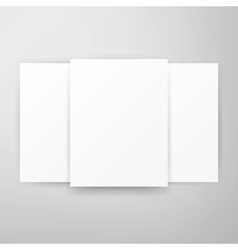 Three Posters Template Mockup vector image vector image