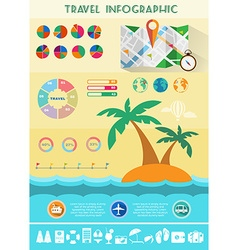 Colorful Travel Infographics vector image vector image