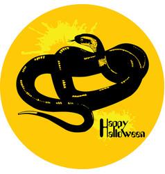 snake halloween vector image vector image