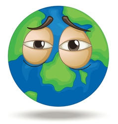 Tired Earth vector image vector image