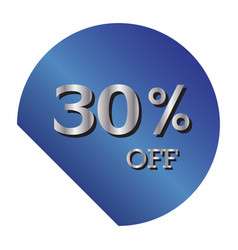 30 off discount price tag gradient blue tag with vector