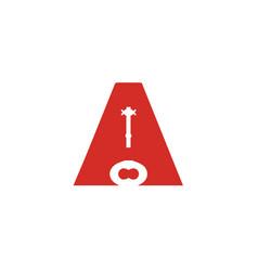a-key-logo vector image