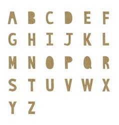 A to Z alphabet2 vector image