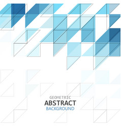 abstract geometric pattern blue color vector image