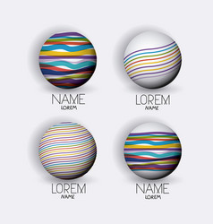 abstract logo modern globes icon set with colorful vector image