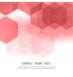Abstract pink flyer design with geometric vector