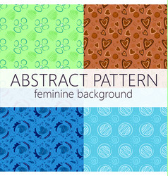 Abstract seamless pattern repeatable template vector