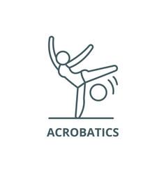 acrobatics line icon acrobatics outline vector image