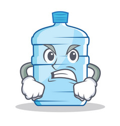 Angry gallon character cartoon style vector