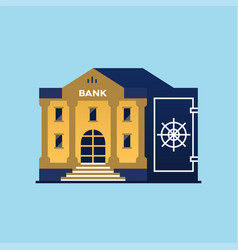 Bank building symbol of safe vector