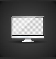 Blank monitor template mockup vector