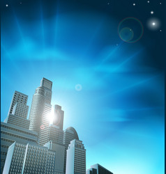 Blue corporate cityscape vector