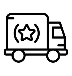 brand truck icon outline style vector image