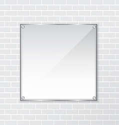 Brick wall and frame background vector image