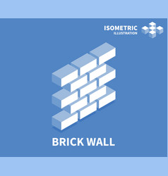 Brick wall icon isometric template for web design vector