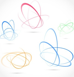 Bright swirl atom orbit element collection vector