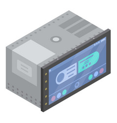 Car touchscreen device icon isometric style vector