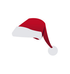 cartoon christmas hat clothes traditional vector image