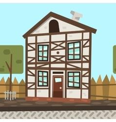 Cartoon flat Germany house vector