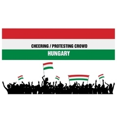 Cheering or Protesting Crowd Hungary vector image