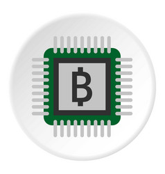 Chip icon circle vector