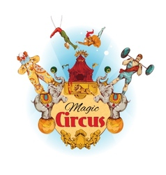 Circus colored background vector image