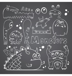 Collection of monsters vector image