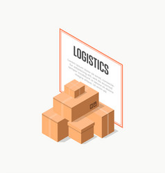 Commercial delivery logistics isometric banner vector
