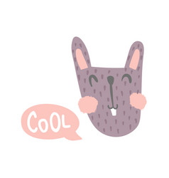 cool bunny vector image