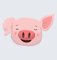 Cute pig print vector