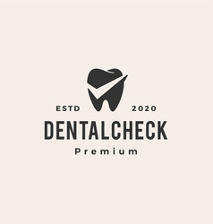 dental check hipster vintage logo icon vector image
