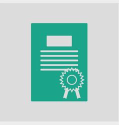 diploma icon vector image