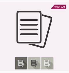 document - icon vector image