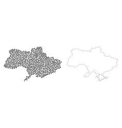 Dot contour map of ukraine vector