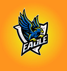 Eagle esport logo vector
