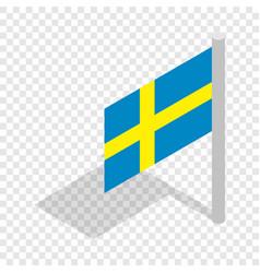 Flag of sweden isometric icon vector