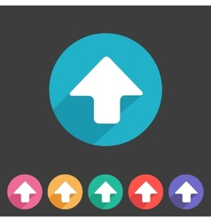 Flat game graphics icon arrow up vector
