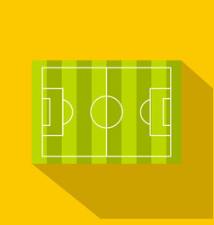 Football or soccer field icon flat style vector