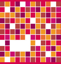 fuchsia abstract square bacground icon vector image