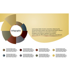 Gold metal infographic diagram data visualization vector
