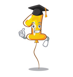 graduation number one balloon isolated in mascot vector image