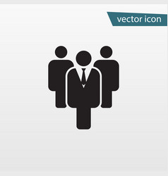 gray leader icon isolated on background modern fl vector image
