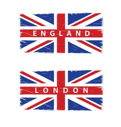grunge Union Jack flags vector image