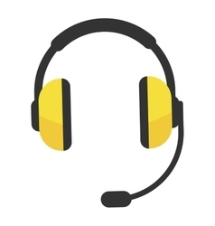 Headphones icon isolated vector image vector image