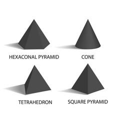hexagonal pyramid set poster vector image