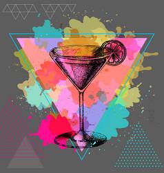 Hipster cocktail cosmopolitan vector