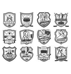Ice hockey sport tournament team league badges vector