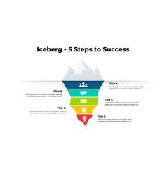 Iceberg infographic presentation slide template vector