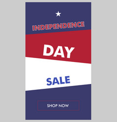 independence day sale vertical color banner vector image