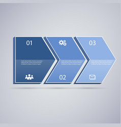 infographic 3d blue arrows vector image